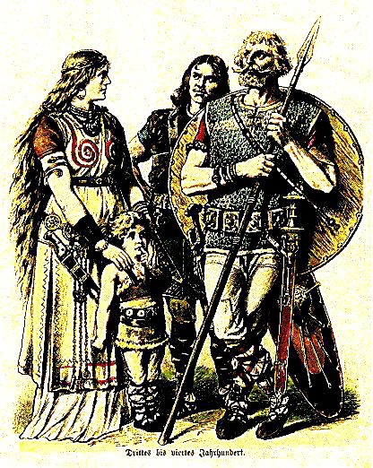Plate #7d - Ancient Germans - The Teutonic Tribes