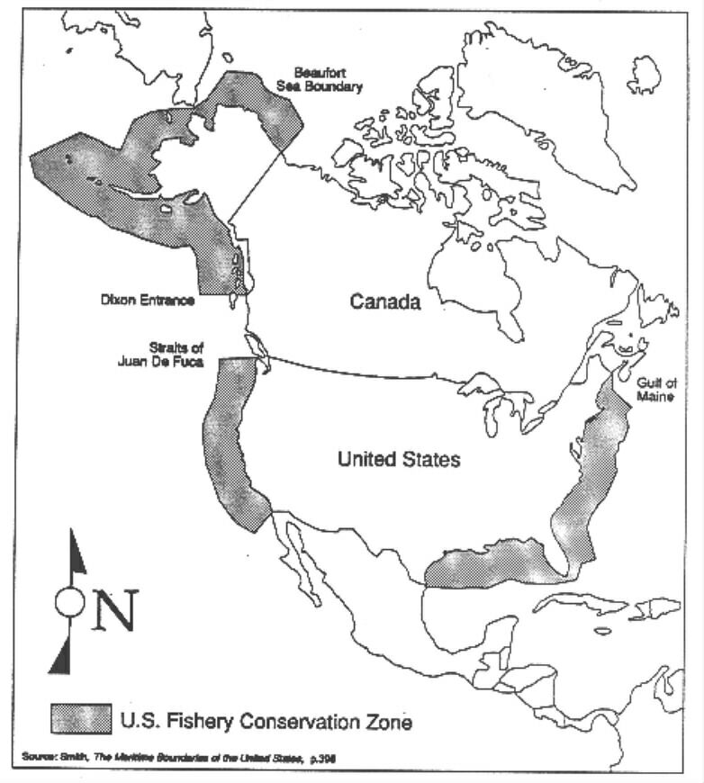 Machias Seal Island - Us sea border map