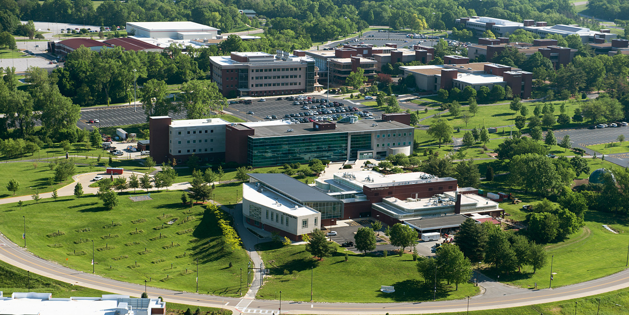 Arial Photo of the SIUE Campus from the Southwest.