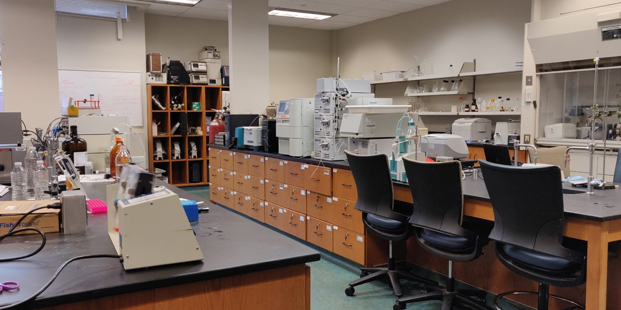 A lab at SIUE.