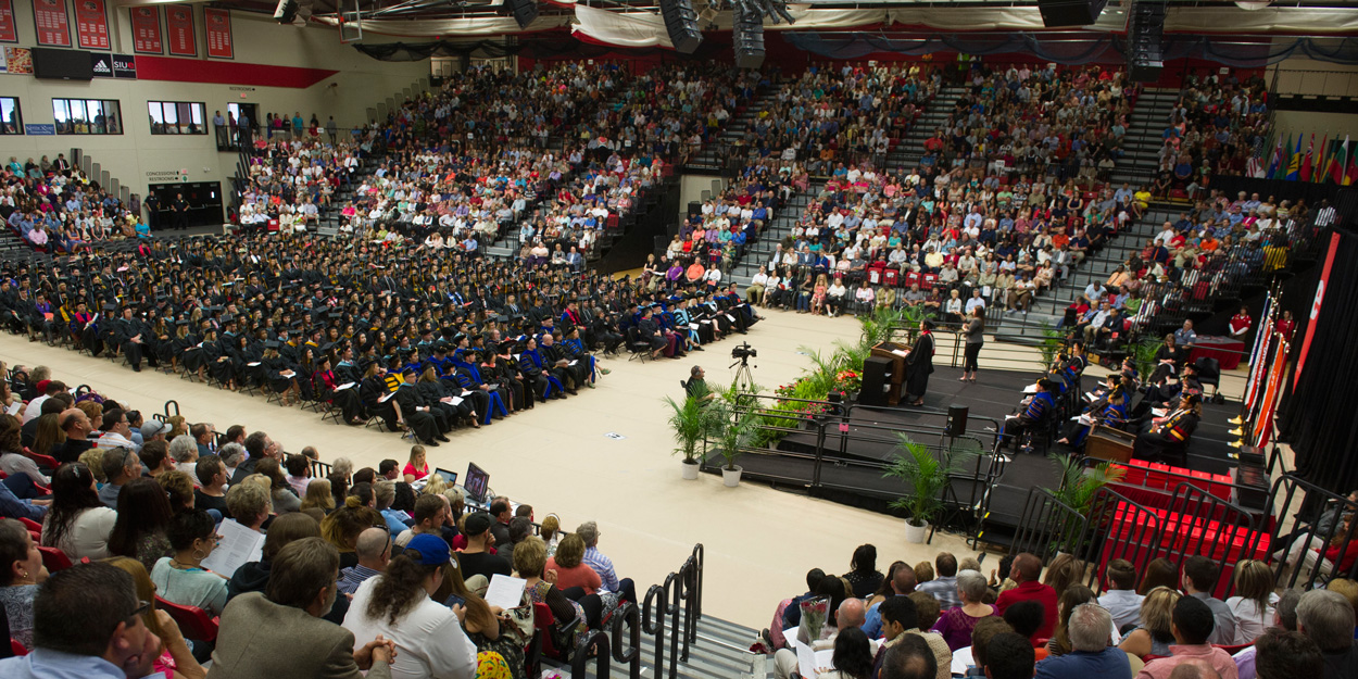 SIUE Commencement at the Vadalabene Center