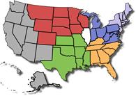 SIUE Admissions U.S. Territory Map