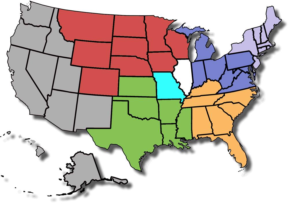 SIUE U.S. Admissions Territory Map