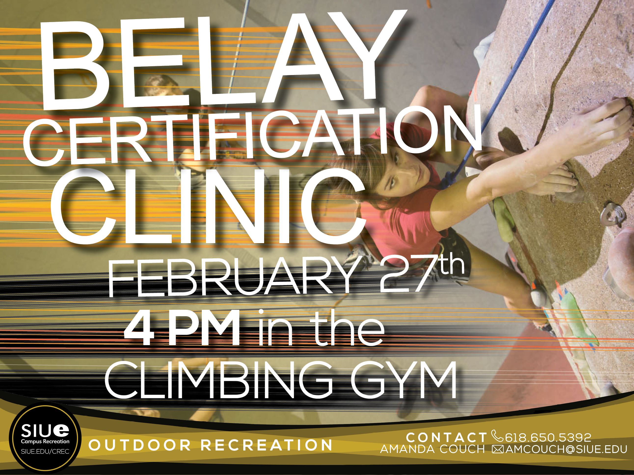Climbing gym and bouldering cave belay certification clinic 1betcityfo Choice Image
