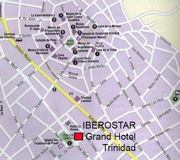 Maps Of Cuba - Trinidad map