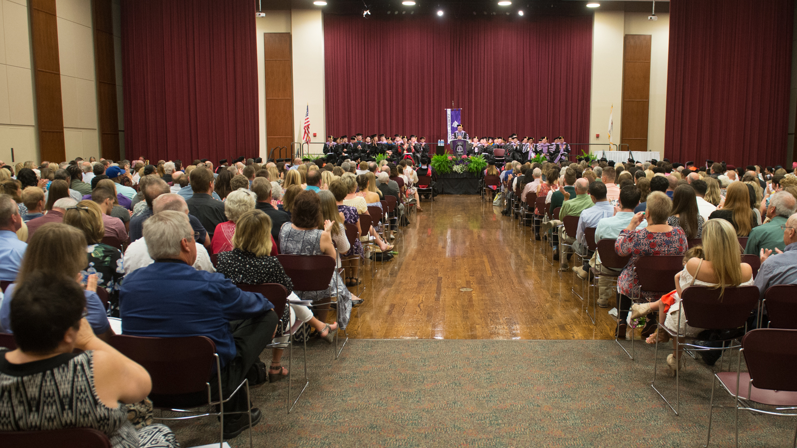 Full ballroom at previous commencement