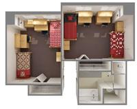 university housing prairie hall room dimensions siue