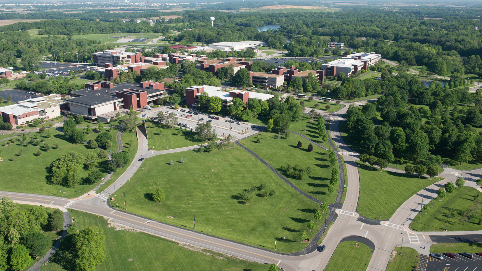 Ariel view of the SIUE campus.