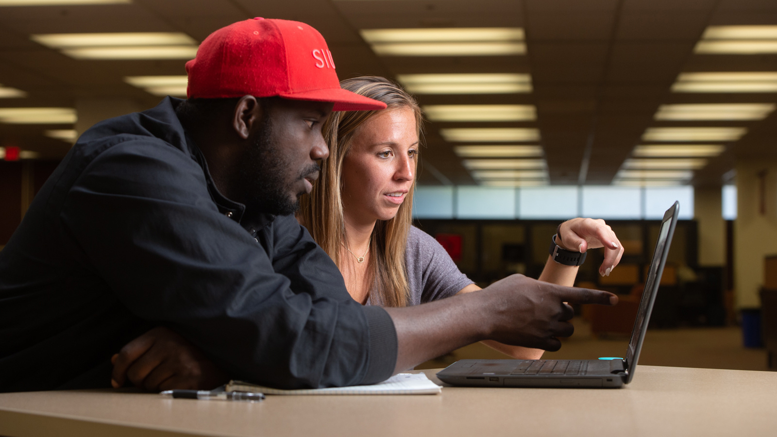 A student and teacher at SIUE