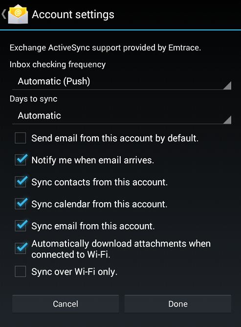 android account settings