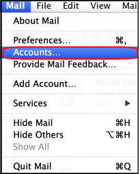 apple mail menu