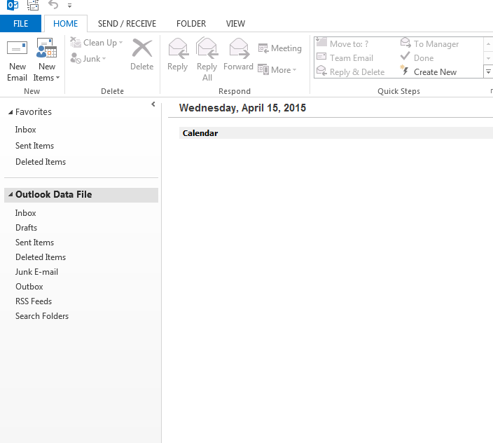 outlook 2010 2013 file menu