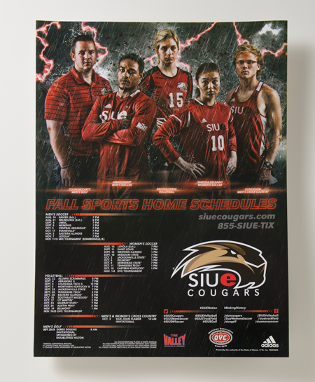 Fall Cougar Sports Schedule Poster