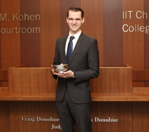 Matt McElwee, best oral advocate, National Moot Court Competition Region VIII tournament.