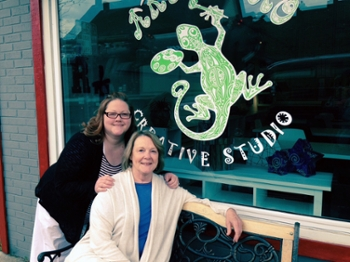 Cory Hollerbach and her mother, Robin Springer, both SIUE alumni, have opened Art Gecko Creative Studio, in downtown O'Fallon, Ill.