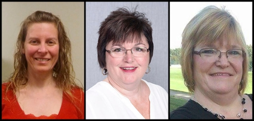 Illinois Rural Health Association health informatics scholarship recipients include (L-R) SIUE's Beth Barrier, Angela Campbell and Tamera Schumer.