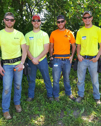 Participating members from the SIUE Constructor's Club included construction management majors (L-R) Will Zerr, a senior from St. Peters, Mo., Aaron Borrowman, a junior from Rockport, Cody Kruse, a senior from Highland, and Jordan Grant, a senior from Peoria.
