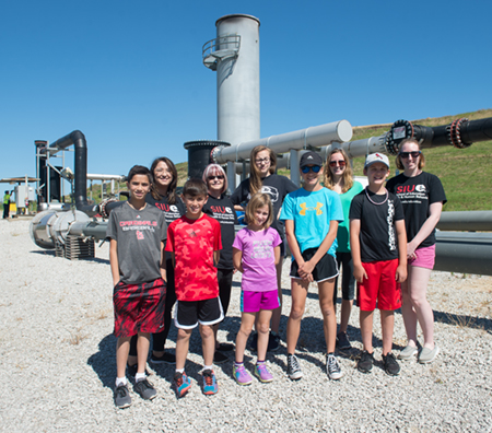 Taking Action and Caring for the Community camp leaders and participants visited a local landfill on Monday, July 26.