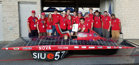 The SIUE Solar Car team finished in the top 10 at the Formula Sun Grand Prix (FSGP) held July 2-8 in Austin, Texas.