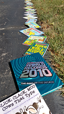 "SIUE invites the public to participate in its ""Longest line of books"" Guinness World Record attempt, with gently-used donated books creating a path for miles."