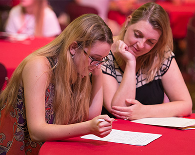 A prospective student considers the academic programming available at SIUE.