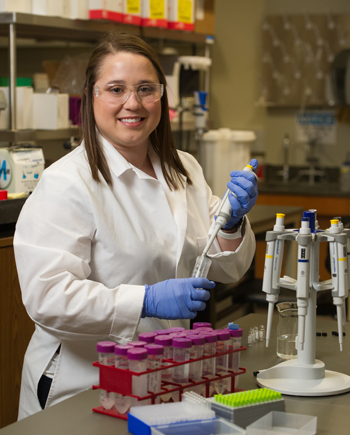 SIUE's Danielle Smith received funding for undergraduate research.