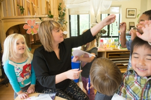 Libby Linhares teaches at the Early Childhood Center