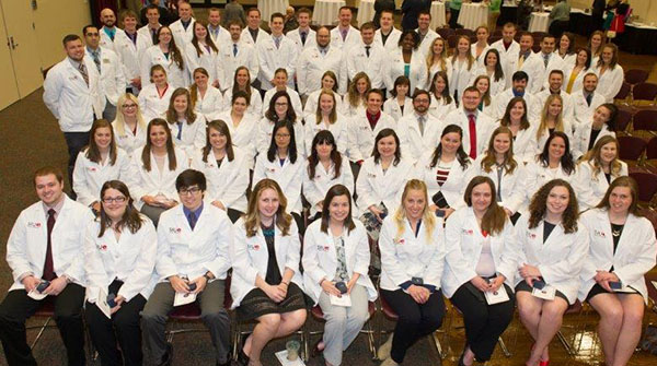 SIUE School of Pharmacy class of 2017 during their pinning ceremony.