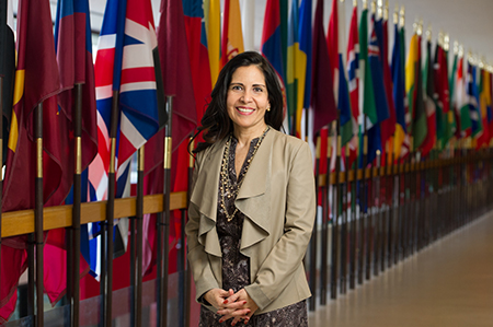 Silvia Torres Bowman, director of the International Trade Center at SIUE.