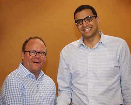 (L-R) Korte Company President and CEO Todd Korte and SIUE Assistant Professor in the Department of Construction Ahmed Abdelaty, PhD.