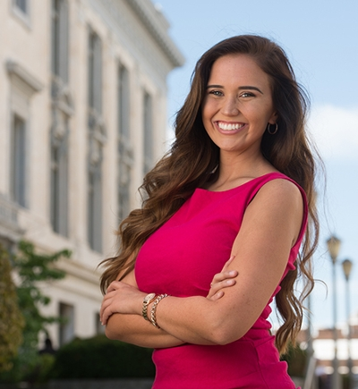 SIUE senior Anna Miller completed a high impact summer internship with Madison County's Domestic Violence Accountability Court.