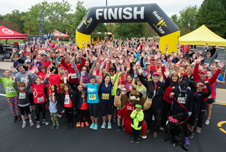 Nearly 350 crossed the finish line at the third annual Cougars Unleashed Homecoming Run.
