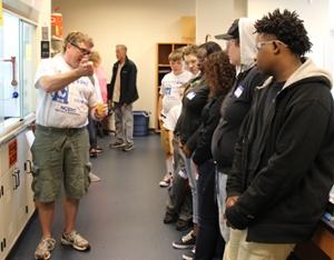 Bob Dixon with students at NCERC