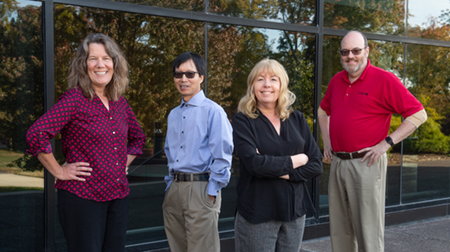(L-R) SIUE researchers Drs. Georgia Bracey, Shunfu Hu, Thomas Foster and Sharon Locke.