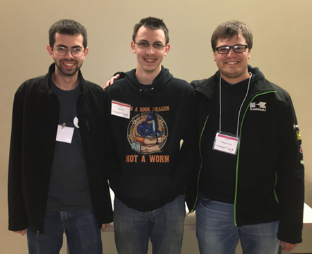 Third place winners at the local ACM ICPC were SIUE juniors (L-R) Dan Benke, Sean Pohl and Chris Krozel.