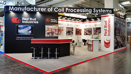 Red Bud Industries, Inc.'s booth space at Euroblech 2018.