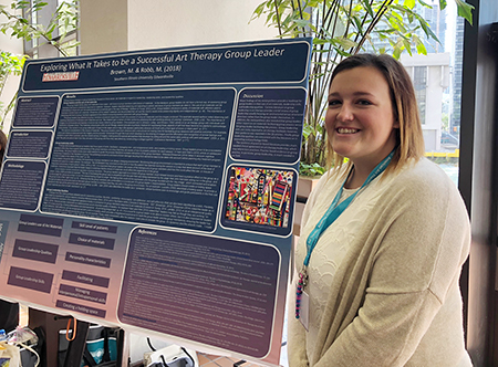 SIUE sophomore Macey Brown earned the Best Undergraduate Research Poster Award from the American Art Therapy Association.