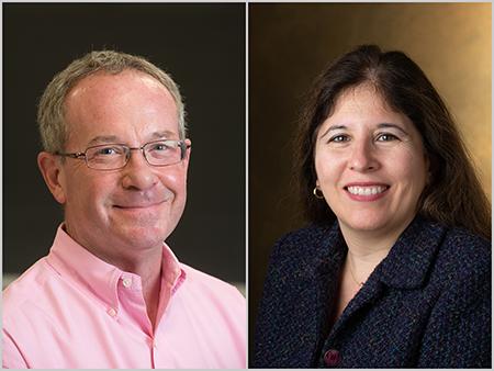 (Top L-R) Ron Worthington, PharmD, and Carolina Rocha, PhD.