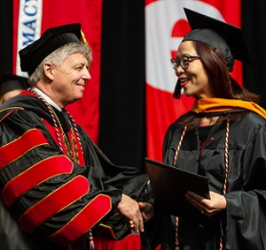 SIUE Chancellor Randy Pembrook at Fall 2018 Commencement