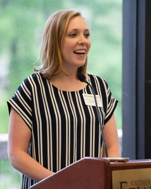 SIUE SON senior Hannah Greenwalt shared her admiration for donors who actively support students and the nursing profession's continued growth.