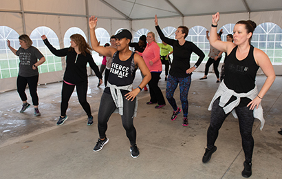 At the Ladies Night Event, many attendees enjoyed Zumba classes led by instructor Sonja Collins.