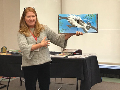 Local children's book author Jennifer Ward presented at the CIRP Conference held at SIUE.