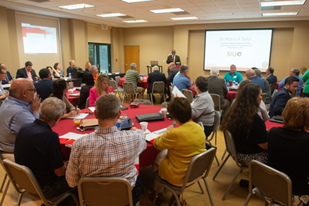 SIUE and Madison County Community and Economic Development (MCCD) co-hosted the Metro East Economic Development Seminar for elected officials on Friday, June 7 on SIUE's campus.