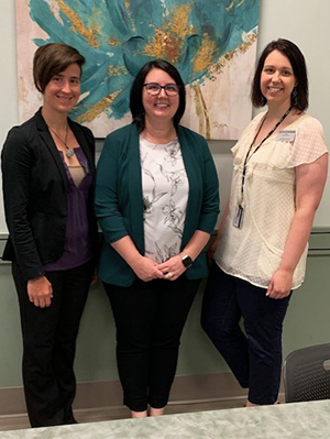 SIUE School of Nursing faculty that developed the REACH program are (L-R) Mary Frazier, Chelsea Howland and Emily York.