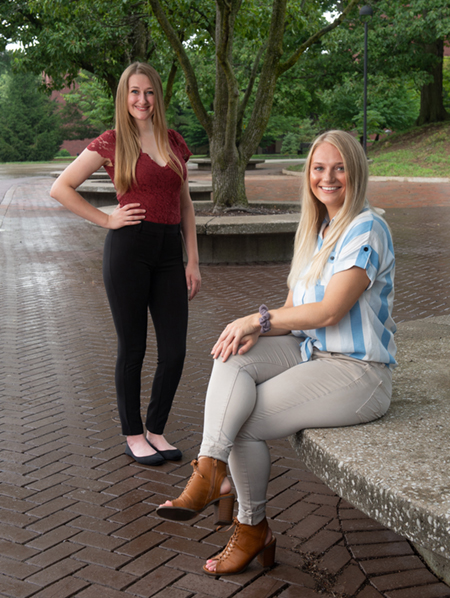 SIUE graduate students (L-R) Kimberly Ferner and Alyssa Lowe will present their research during the Association for Applied Sport Psychology's virtual conference in October.