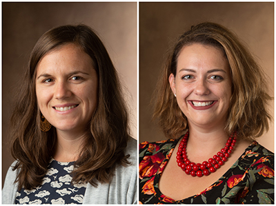 Vaughn Vandegrift URCA Research Mentor of the Semester Awards were presented to both Carlee Hawkins, PhD, assistant professor in the Department of Psychology, and Brittany Peterson, PhD, assistant professor in the Department of Biological Sciences.