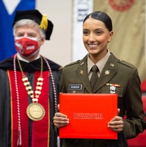ROTC graduate Bansikha Khadka