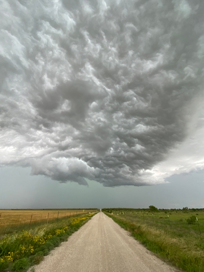 """A """"breathtaking"""" storm was viewed by the participants along their journey. (Courtesy: Sharon Locke)"""