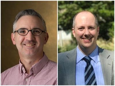 (L-R) SIUE Department of History's Bryan Jack, PhD, associate professor, and Erik B. Alexander, PhD, associate professor.
