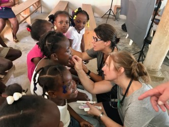 Lorilee Sebesta and Valerie Griffin on medical service trip to Haiti